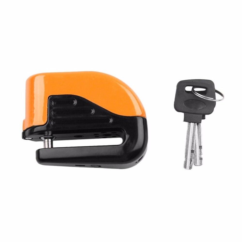 Bicycle Bike Mini Electron Alarm Disc Brakes Lock Mountain Bike Road Racing Bike Anti Theft Security Accessories with keys drop