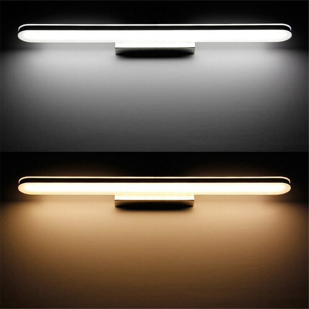 SXZM 40cm 8W LED wall lighting mirror light AC85-265V Wall mounted Acrylic waterproof white/warm white lamp for bathroom ac 85 265v 8w cloud led wall lamp acrylic sconce mounted light for home interior lighting