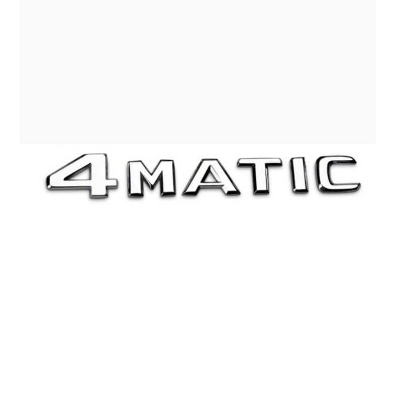 Vente chaude 1 pièces 3D autocollant pour C43 C63 C180 C200L C300L GLC260 GLC300 4 MATIC Insigne D'emblème D'autocollant De corps de Voiture pour benz