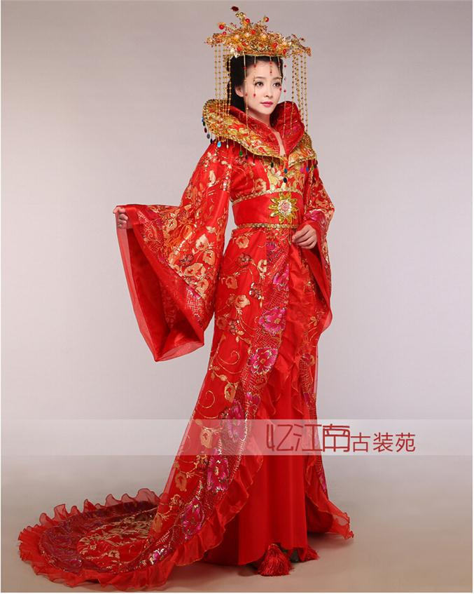 Горячая распродажа Новые Китайские Древние Традиционные Infanta Королевский драматургический костюм халат платье 2015101