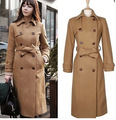 2016 new women's winter long wool coat and temperament after double breasted suit coat when the airline stewardess