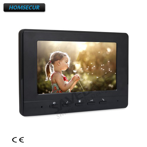 HOMSECUR 7 Color Indoor Monitor with Mude Mode XM707-B for Video Door Phone Intercom System homsecur 4 3 color indoor monitor xm401 for video door phone intercom system
