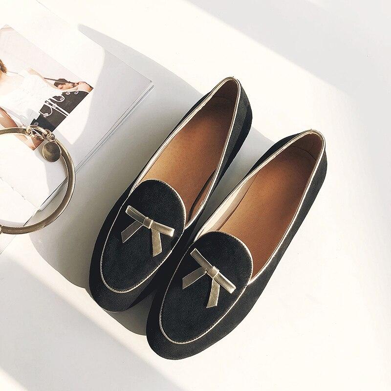 bf14c27344073b Taille De Cuir Confortable Marque Couleur Mocassins on Véritable 34 Daim  Slip Cravate 3 Chaussures Loisirs ...