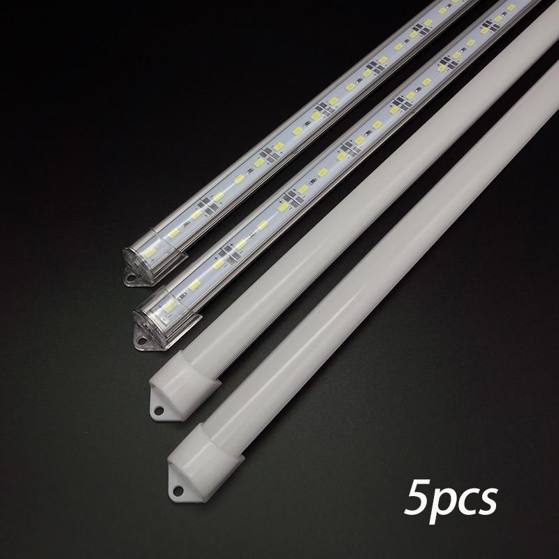 5pcs*50cm Factory Wholesale DC 12V SMD 5730 5630 LED Hard Rigid Strip Bar Light Aluminium shell pc cover  Lights industrial