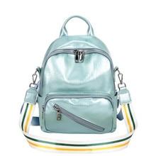 Candy Color Sweet College Wind Mini Shoulder Bag High Quality PU Leather Fashion Girl Cute Small Backpack Female Bag mochila J3 цена