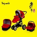 Leybold Baby Stroller Baby Car Light Inflatable Wheel Baby Stroller Buggiest Trolley 3 In 1 strollers