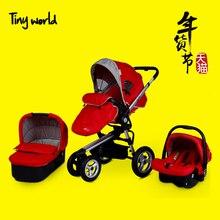 Leybold Детская Коляска Малолитражного Автомобиля Свет Надувные Колеса Коляски Buggiest Тележка 3 В 1 коляски
