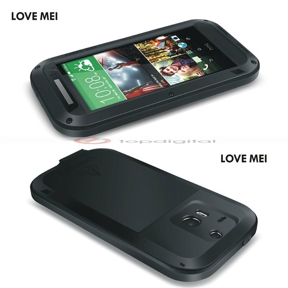LOVE MEI Shockproof Dirtproof Waterproof Metal Case For HTC One 2 M8 (3)