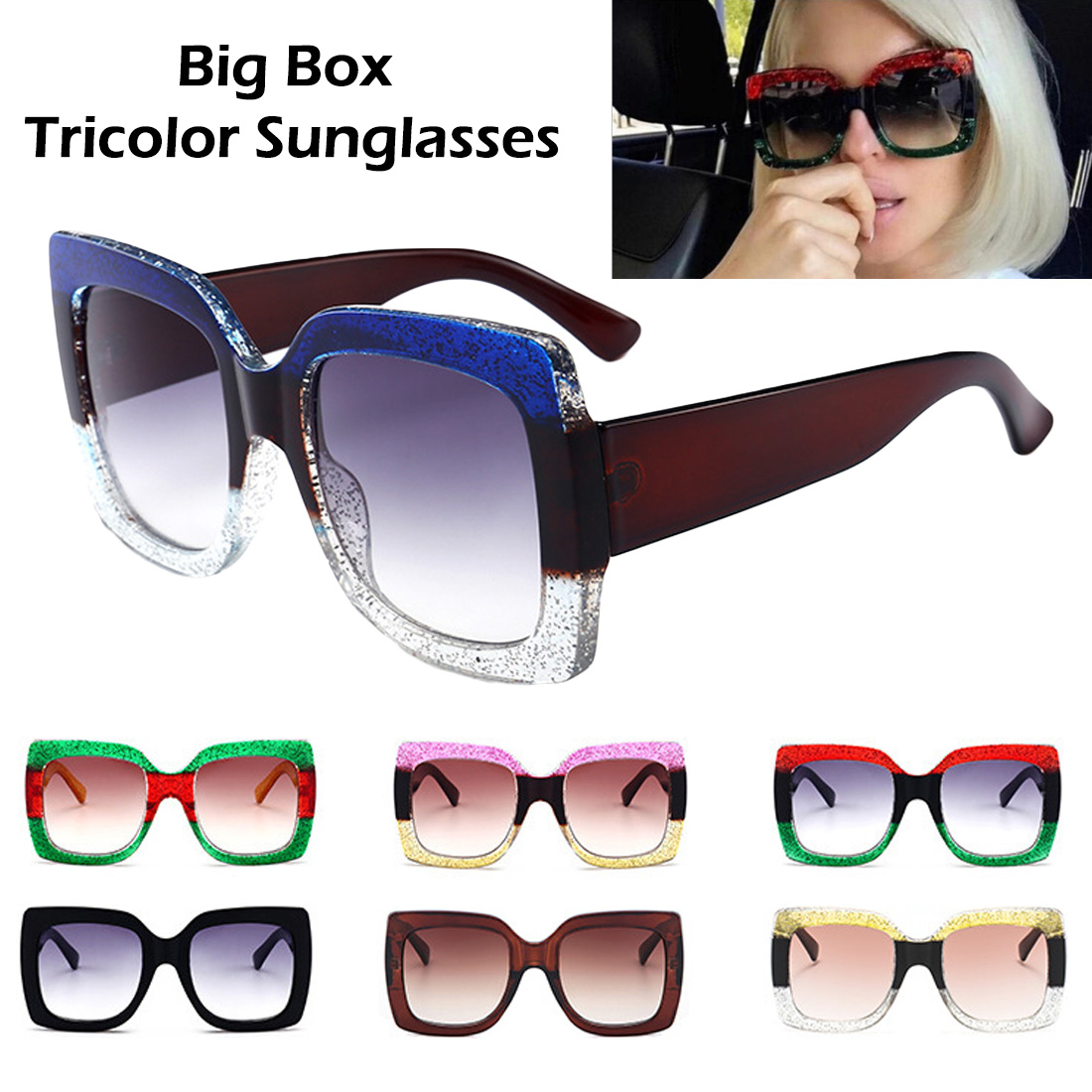 Sunglasses Women Bee Retro Glasses Men Gafas Big Box Oversized Vintage Polygon sunglass women