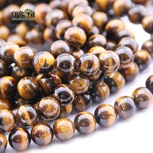 цена 6/8/10/12/14mm Natural Yellow Tiger Eye Beads Round Loose Beads Stone Beads For DIY Necklace Bracelet DIY Jewelry Making 1862 онлайн в 2017 году