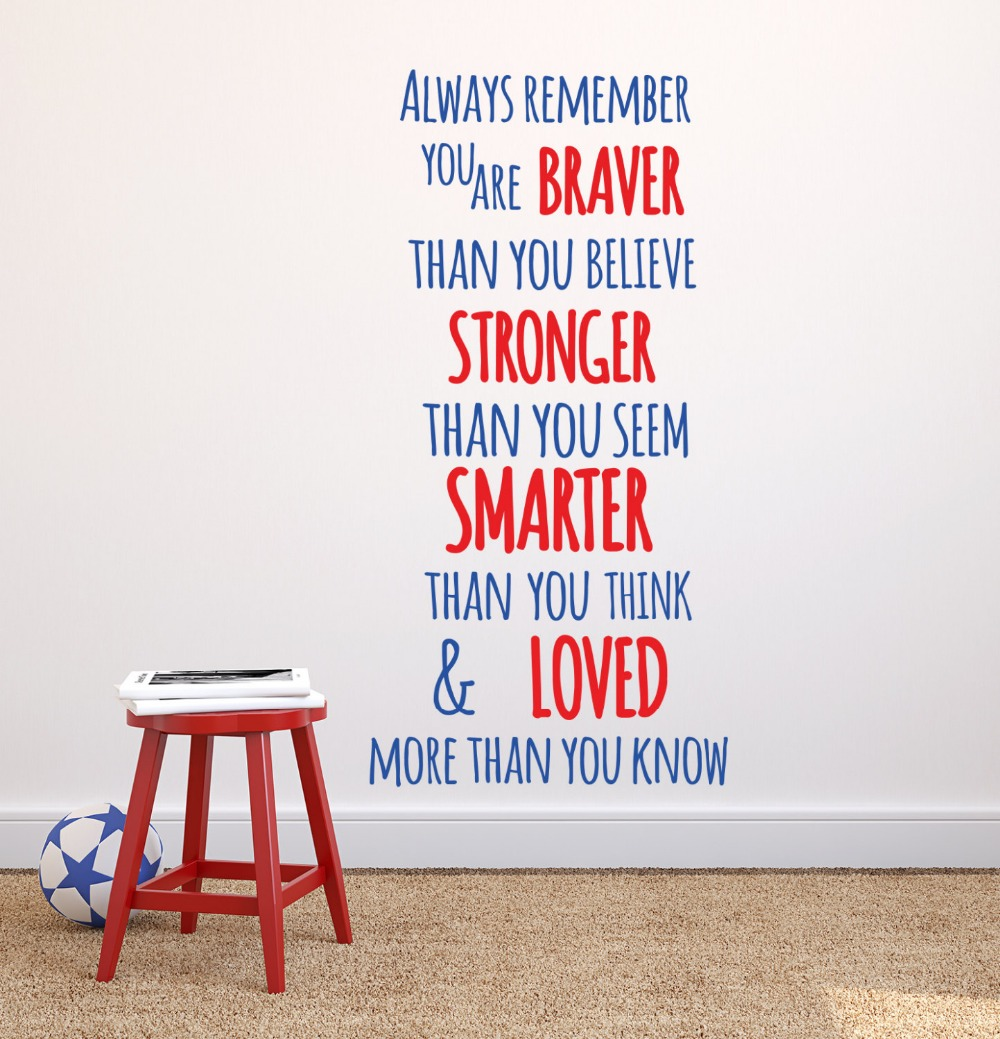 popular baby boy quotes buy cheap baby boy quotes lots from china always remember you are braver than you believe winnie the pooh quote wall decal baby