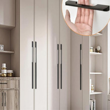 universal modern contracted furniture handle cabinet knobs and handles drawer pulls black yellow