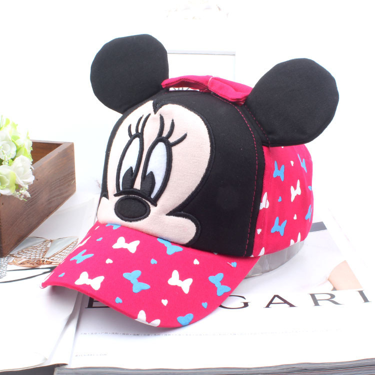 high crown baseball caps fashion cute style mickey children font deep hats extra