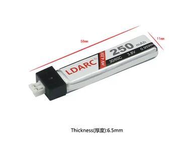 2 pcs LDARC 3.8 V 250 mAh 30/60C lipo batterie pour intérieur FPV