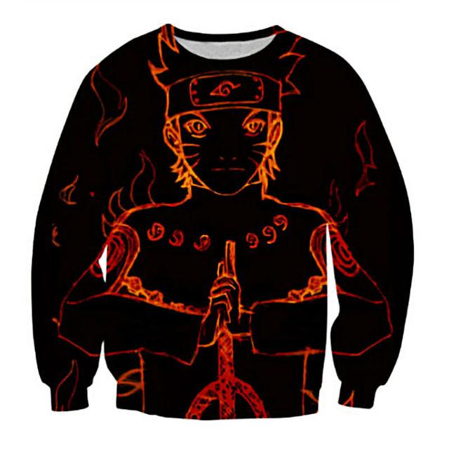 Naruto Sweatshirt 3D Print Men Pullover