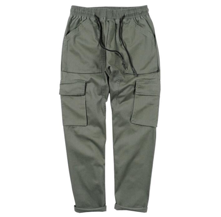 Negro Cargo plus Japonés Mens Manera Multi Militar 2 plus Velvet De Thicke Personalidad 1 Thick Los La Pantalones Pantalon Hombre Suelta bolsillo 3 Harem Jadean verde 4 Homme OnIH0Oqar