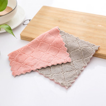 yooap Printed absorbent dish cloth, non-stick oil, cleaning hand towel, thickening, tablecloth, kitchen