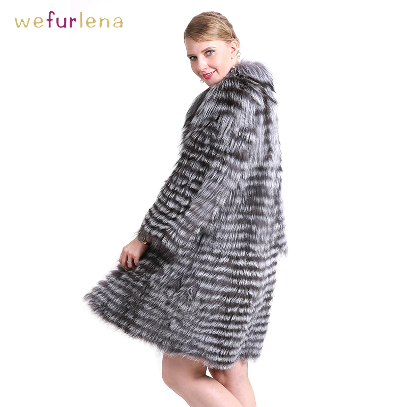 Tricoté 2 Vêtements En Des 5 9 Renard De 3 8 Nouvelle Silver Chaude Fox Fluffy Femmes Long Femelle 90 1 Femme Manteau 6 Col Cm Réel Fourrure Veste 7 4 rZ4ycrWB