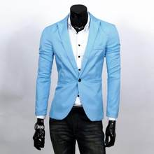 2019 nueva moda hombres Slim Fit Solic Color Casual traje chaqueta Outwear Top(China)
