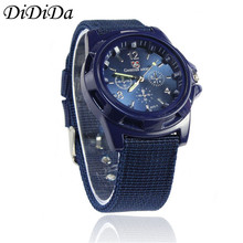 1PCS Men Watch Gemius Army Racing Force Military Officer Fabric Band Quartz Wristwatches Blue Free Shipping relogio masculino J9
