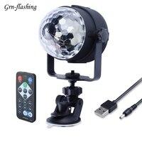 3W 5V Mini RGB LED Disco Light DJ Stage Disco Ball Wireless IR Remote USB DMX