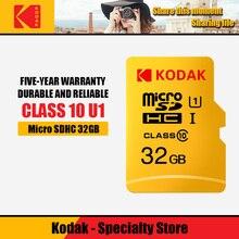 Kodak высокая скорость 16 Гб карта TF/Micro sd 32 Гб cartao de memoria класс 10 U1 64 ГБ флэш-карта памяти mecard 128 Гб Micro sd карта