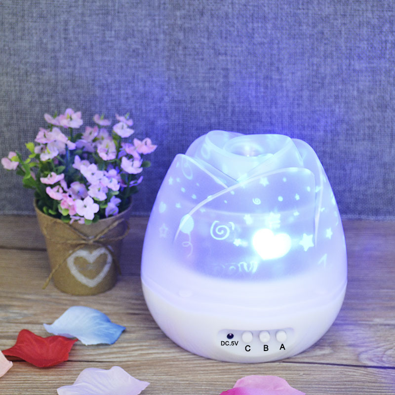 usb led new year night light sky starry Rotating star projector lamp Baby Bedroom Decor Children Kid Night Light for Christmas