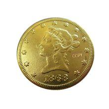 Дата 1868-S 1869-S 1870-CC 1871-CC 1872-CC 1873 1873-S 1874-S позолоченный$10 Liberty Head(девиз на обратном ходу) монеты с изображением орла