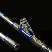 1pcs/pack 2.1M Heavy Boat Jigging Slow Casting Extra Hard Roller Guides Rod Boat Trolling Big Game Sea Fishing Hard Stick pole