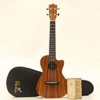 Твердые сопрано концерт тенор Гавайские гитары укулеле 21 23 26 Акация Средства ухода за кожей Гавайи Ukelele мини Гитары музыкальный инструмен