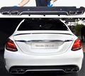 W205 W205 Задний Диффузор Для Губ с Глушитель Выхлопных Советы для Benz 2015 2016 Спорт Бампер (не Fit AMG Бампер)