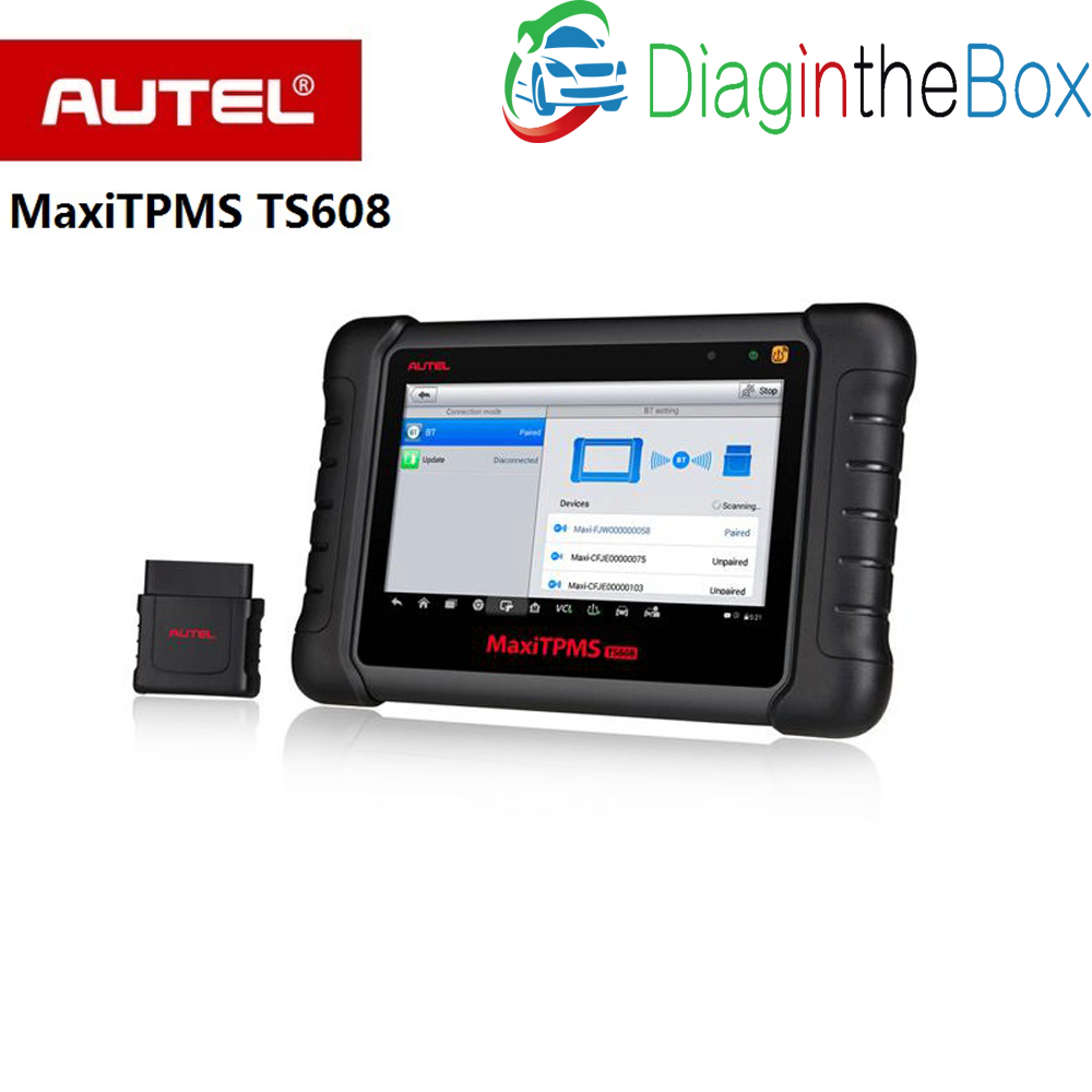 <font><b>Autel</b></font> MaxiTPMS TS608 complete TPMS & all system service tablet tool combine with <font><b>TS601</b></font>,MD802 and MaxiCheck Pro 3 in 1 image
