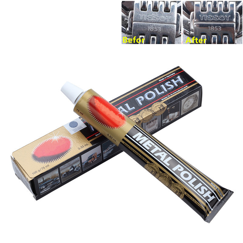 Metal Polish Paste 75ml Scratch Repair Multifunctional Polishing For Copper Silver Metal Stainless Steel Tools
