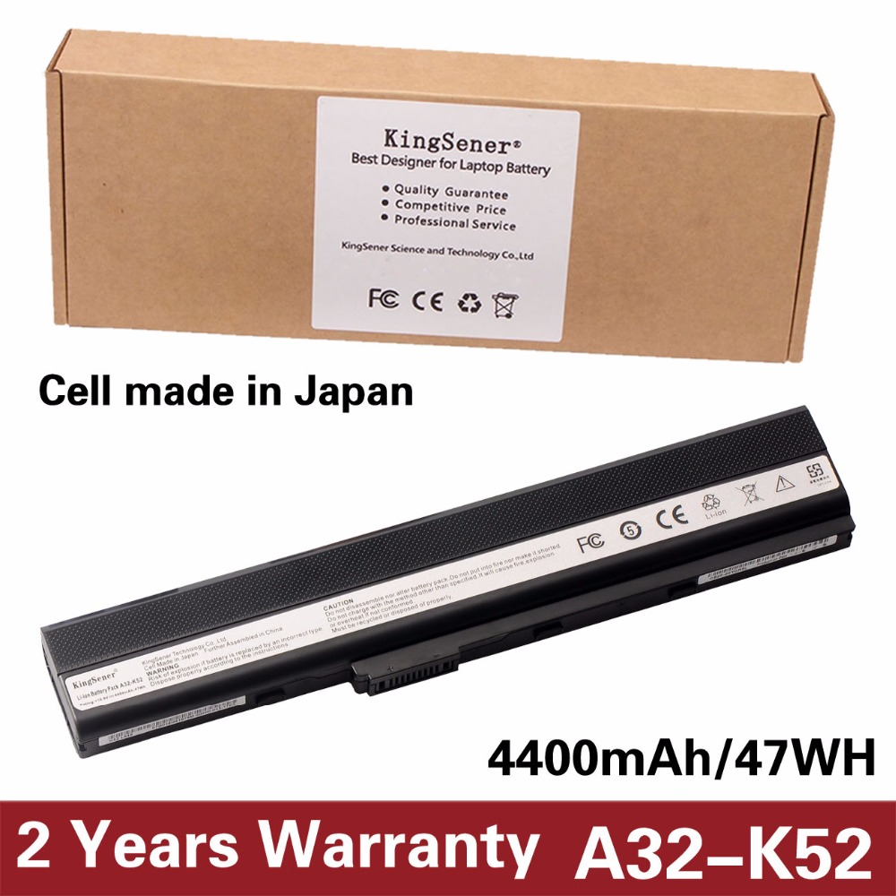 KingSener Japanese Cell A32-K52 Battery for ASUS A52 A52F A52J K52 K52D K52DR K52F K52J K52JC K52JE K52N A41-K52 A31-K52 A42-K52 imido 64cm leather handbag belt bag short strap wide shoulder bag strap replacement flower accessory parts brand design stp035