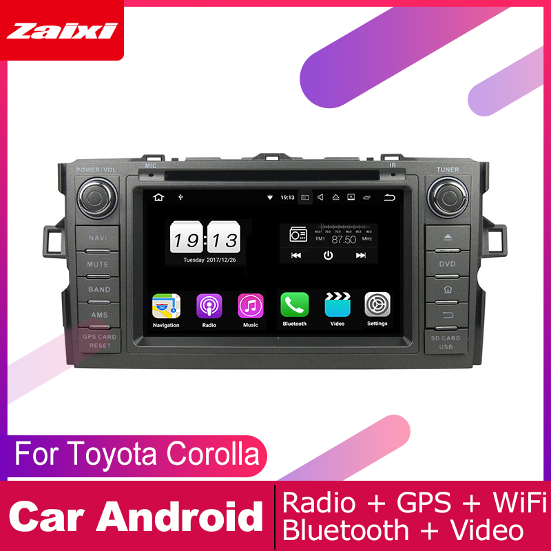 For <font><b>Toyota</b></font> <font><b>Corolla</b></font> (<font><b>E150</b></font>) Hatchback 2006 2007 2008 2009 2010 2011 2012 Car Android Multimedia System 2 DIN Auto DVD Player GPS image