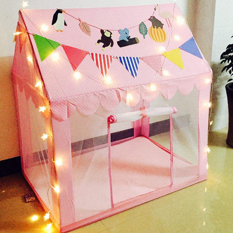 Pink/Blue Toys For Children Indoor Outdoor Princess Castle Tipi Mesh Kids Tent  Play House Children Tent Birthday Gift for Kid new arrival indoor outdoor large children s house game room children s toys 3 in 1 square crawl tunnel folding kid play tent