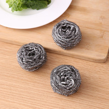 Home Stainless Steel Wire Kitchen Dish Cleaning Ball Scrubbers Sponge 6cm