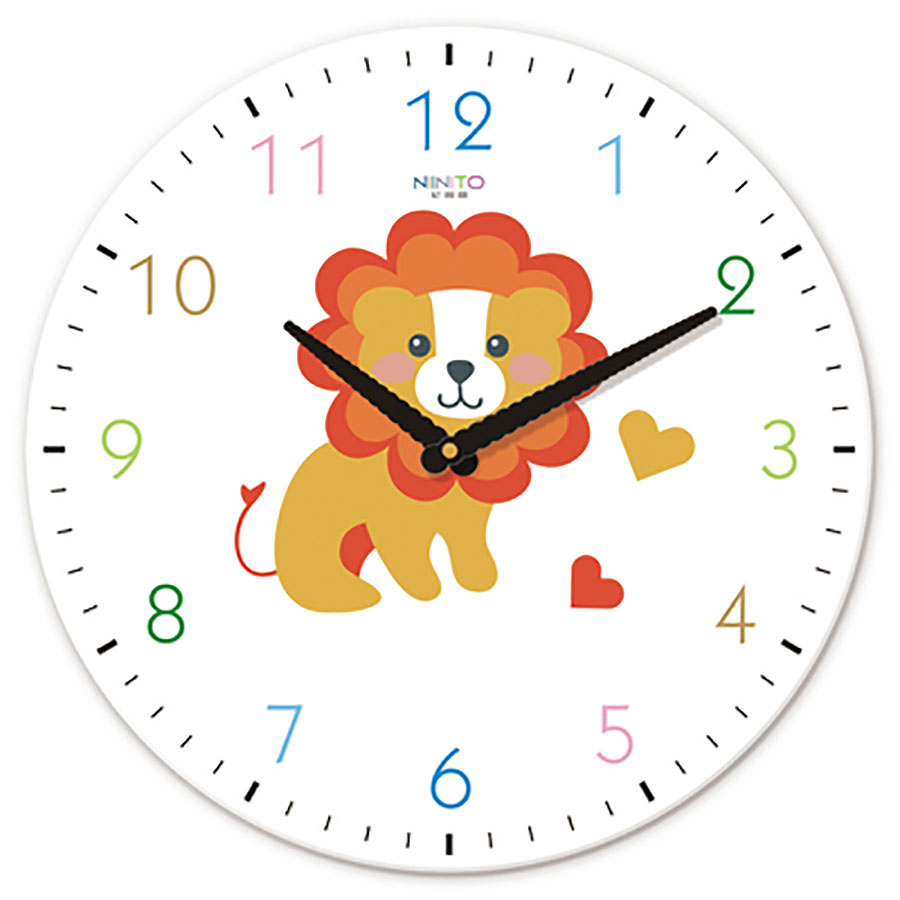 Dessin animé horloge murale créative chambre d'enfants Animal mignon Simple muet horloge bébé chambre mode Art horloge décor à la maison WZH248