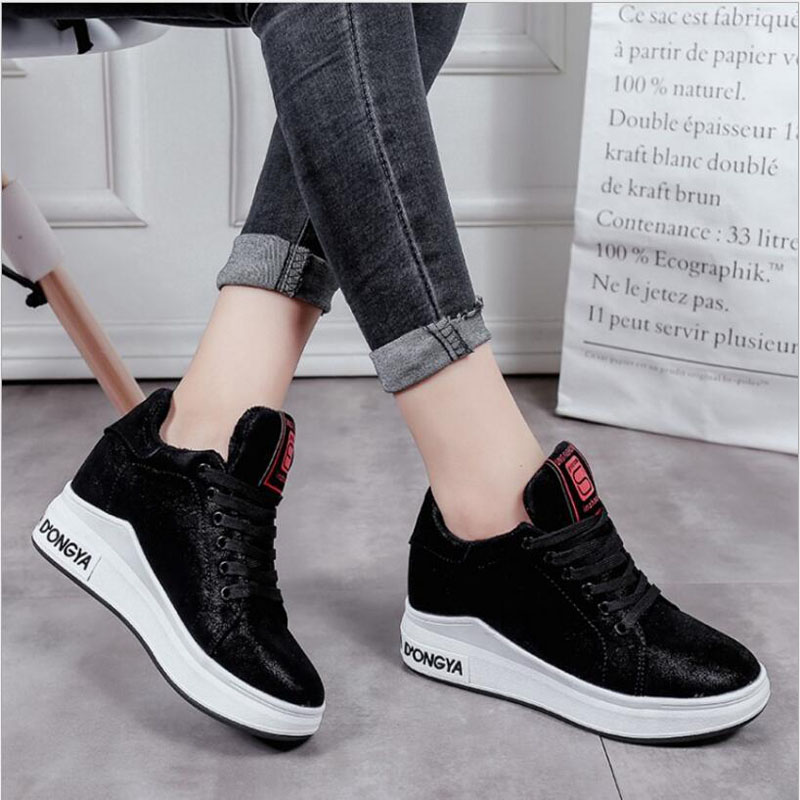2019 Autumn women flats shoes platform sneakers shoes   leather     suede   casual shoes slip on flats heels creepers moccasins