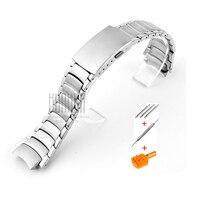 Watch accessories 18mm men's stainless steel strap for Casio 2328 EF 512D ladies Silver waterproof sports strap