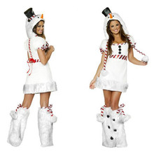 2016 New Adult Snow White penguin outfit Sexy Halloween Costumes take Christmas clothes uniform snowman installed studio film(China)