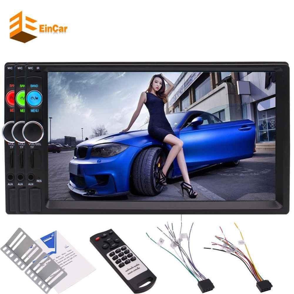 2 Din In Dash Capacitive Touch Screen Car headunit Stereo 7 Inch FM Radio TFT Car Kit Bluetooth Car Video USB/TF AV input MP5