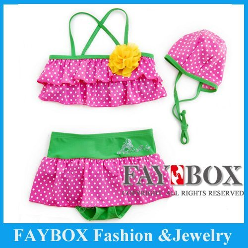 Factory direct, first-class quality! Lovely Yellow flowers Baby swimsuit, bikini for kid baby swimwear, girl Beach wear