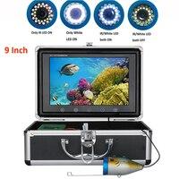 1000TVL рыболокаторы подводная рыболовная камера 9 дюймов 15 шт. белые светодиоды + 15 шт. инфракрасная лампа для льда море/река Рыбалка