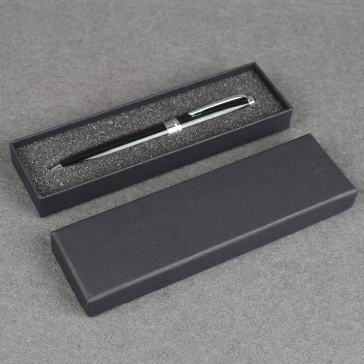 50 stks Zwarte Pen Display Verpakking Dozen blank Gift Sieraden Doos accepteren aanpassen logo pen verpakking papier case-in Geschenktasjes & Inpak Benodigheden van Huis & Tuin op  Groep 2