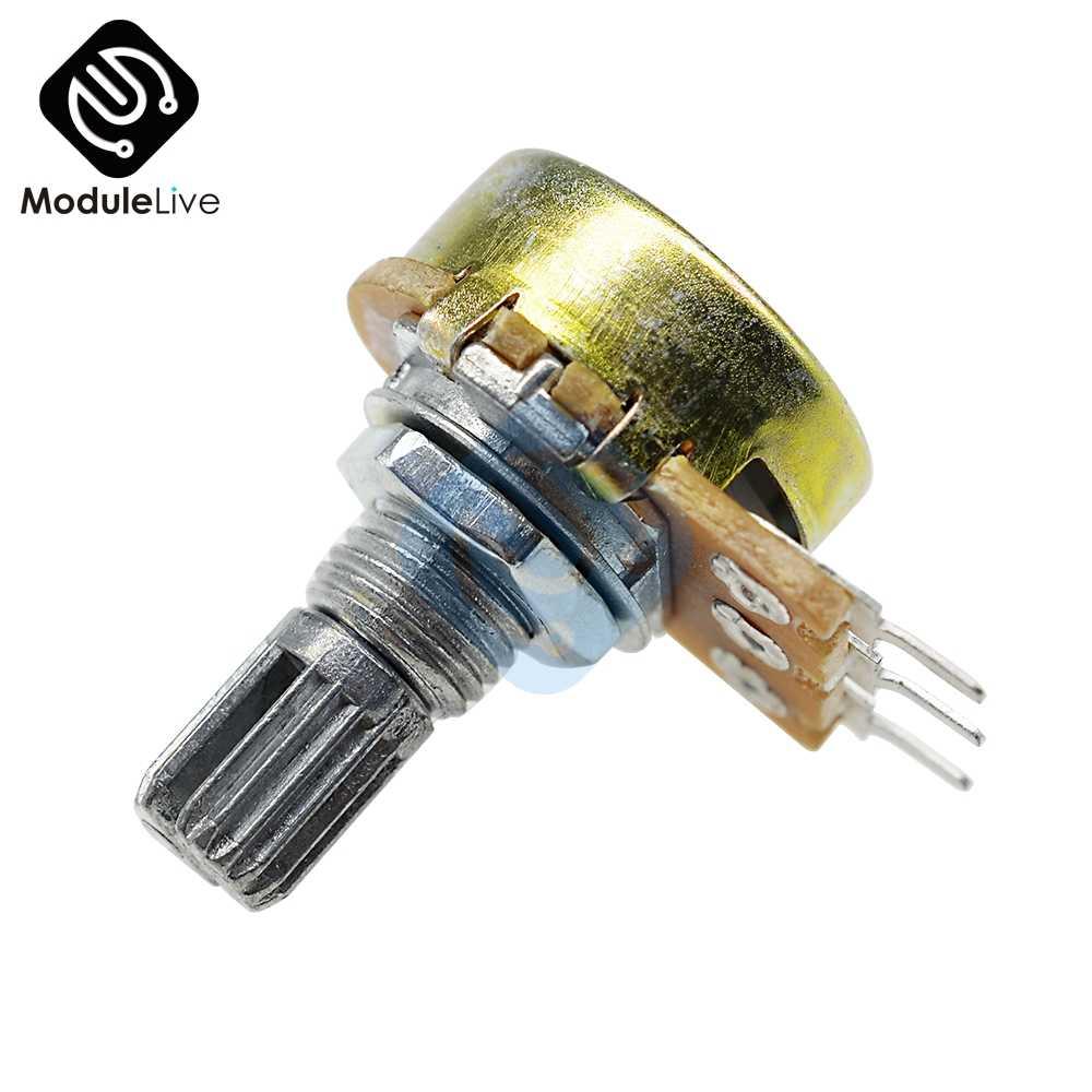 B1K B2K B2K B10K B20K B50K B250K B1M 20 мм 6 контактов одиночный стерео-потенциометр резистор Poti потенциометр Mit Welle Сплит для WH148
