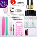 Nail Art Pro DIY Full Set Soak Off UV Gel Polish Manicure Set any 5 Colors  3W LED Curing Lamp Kit Set Nail Gel Nail Tools