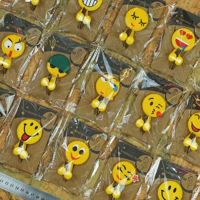 Online Shop New Cute Emoji Patterns Sucker Plastic Toothbrush Holder ...