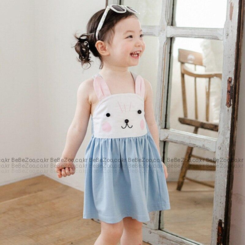 2016 děti dívka letní šaty bez rukávů dětské batole - Dětské oblečení