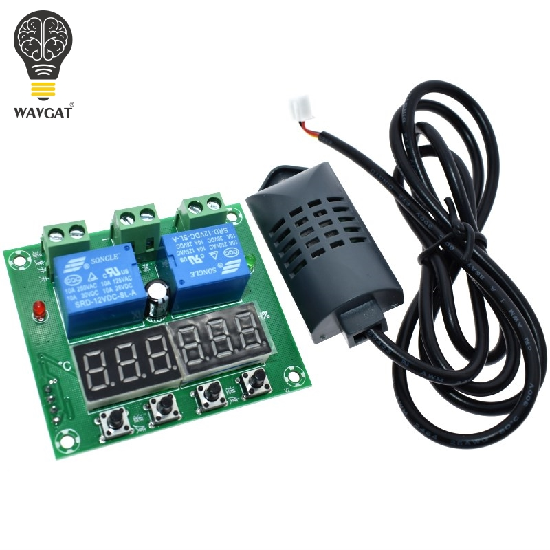 WAVGAT DC 12V Thermostat Temperature Humidity Control Thermometer Hygrometer Controller Module LED Digital Display Dual OutputWAVGAT DC 12V Thermostat Temperature Humidity Control Thermometer Hygrometer Controller Module LED Digital Display Dual Output